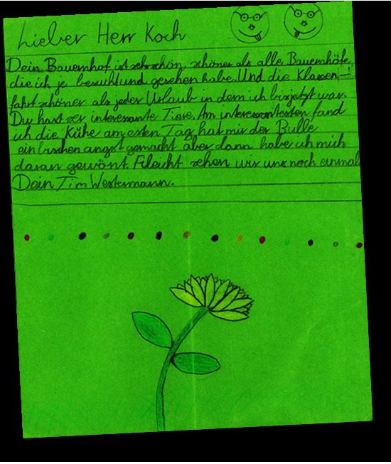 Dankesbrief eines Kindes