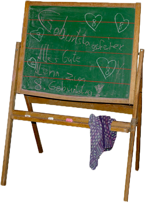 Tafel mit Glückwunsch zum 8. Geburtstag