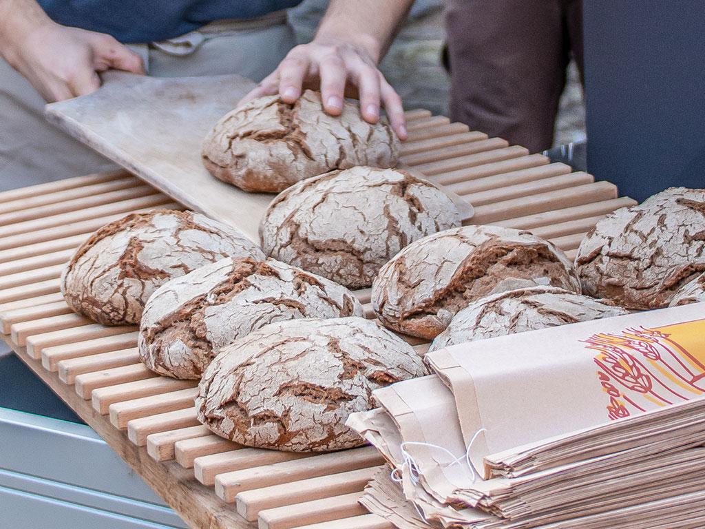 Brot nach dem Backen