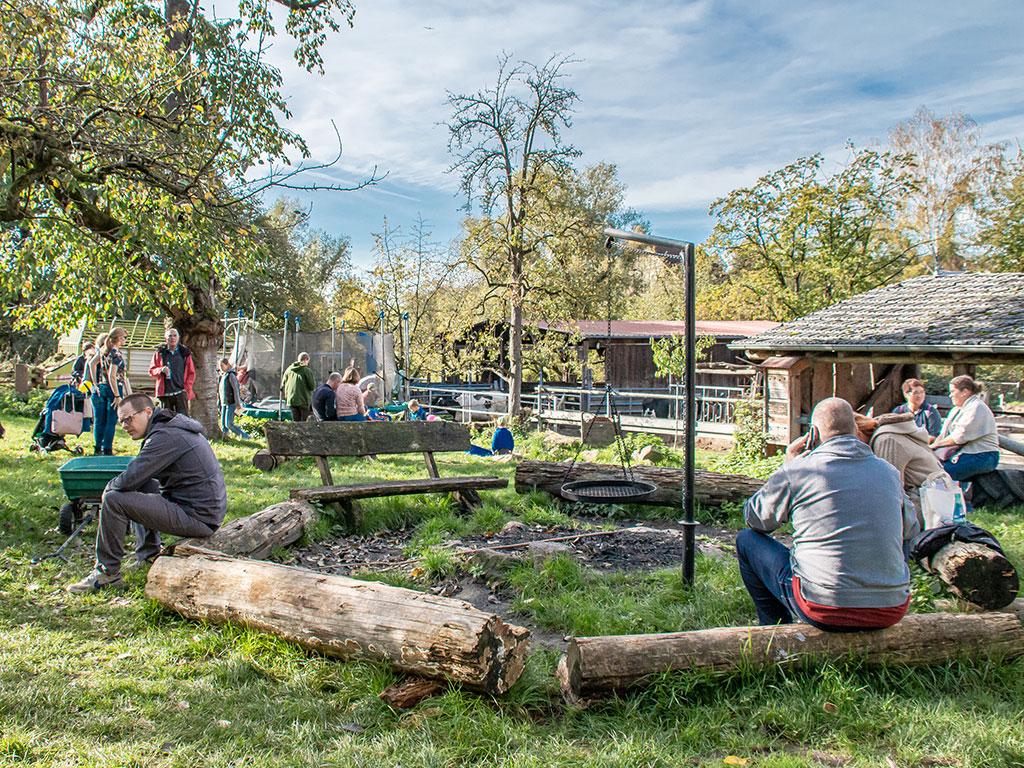 Am Hoffest 2019 im Garten