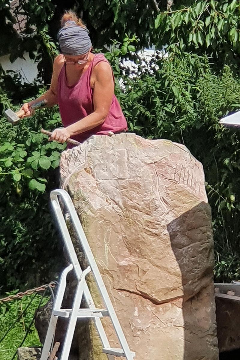 Ulrike Degenhardt bei der Arbeit